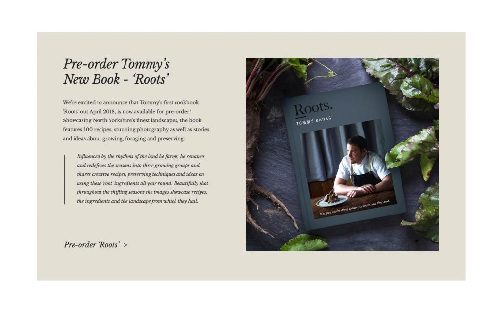 Black Swan Site Designs - cookbook layout concept