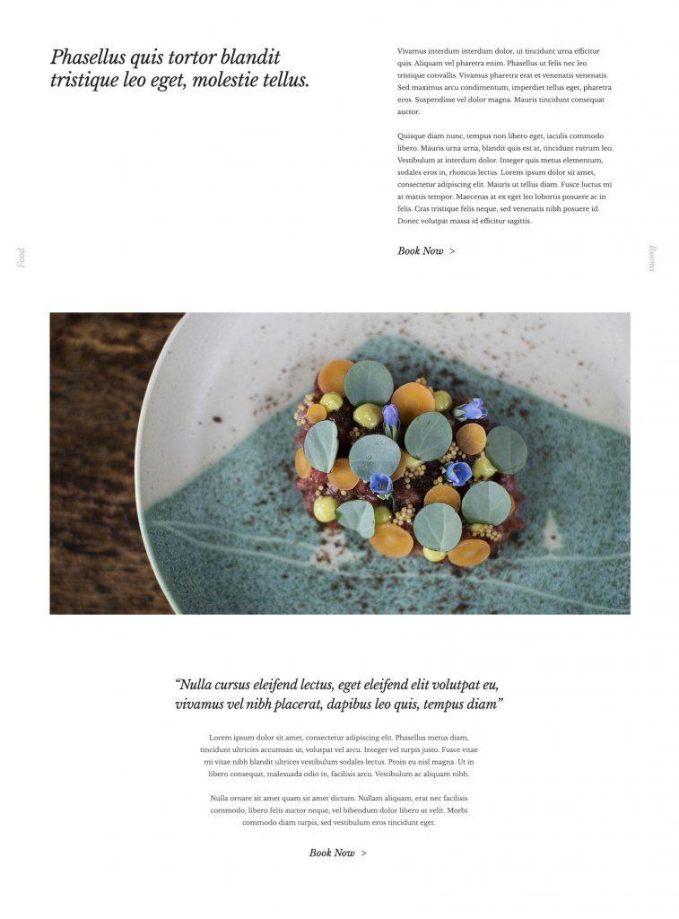 Black Swan Site Designs - Content Block Layout